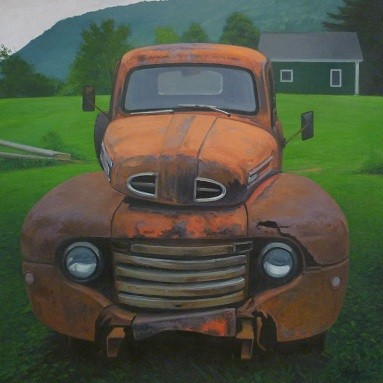 Woodstock Ford 48 x 48 inches by Kevin Beers
